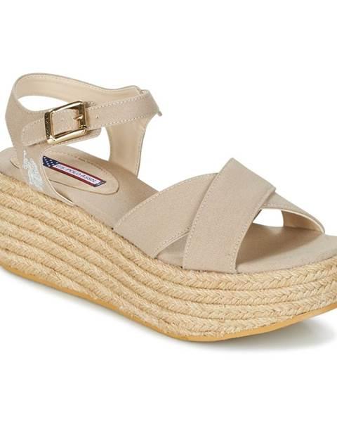 Béžové sandále U.S Polo Assn.