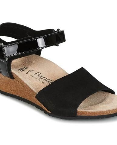 Čierne sandále Papillio