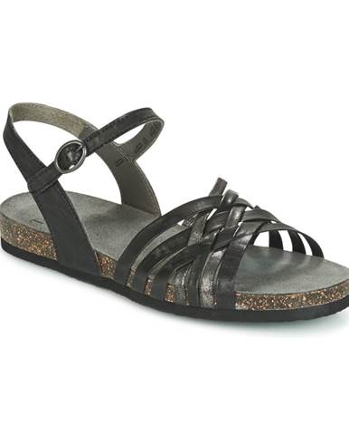 Čierne sandále Think