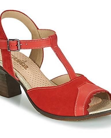 Červené sandále Casta