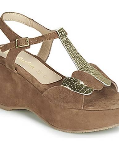 Hnedé sandále Lola Espeleta