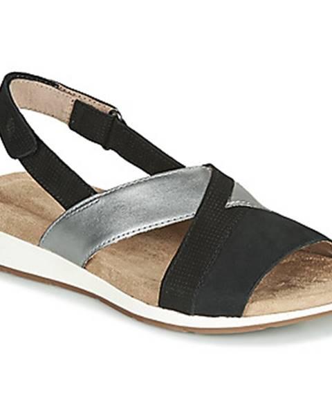 Čierne sandále Hush puppies