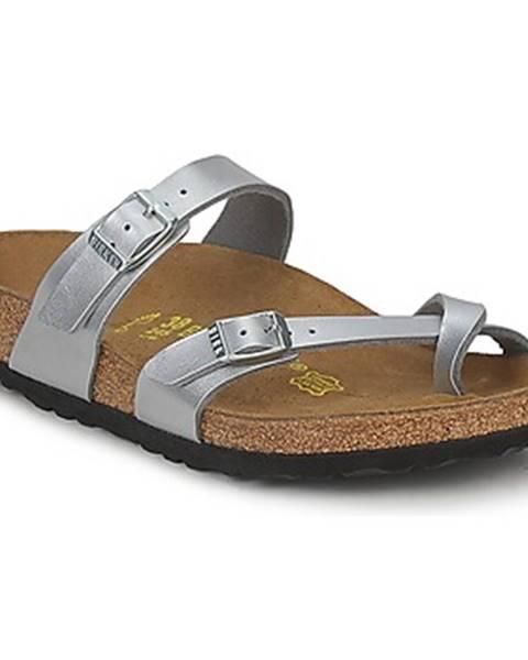 Strieborné topánky Birkenstock