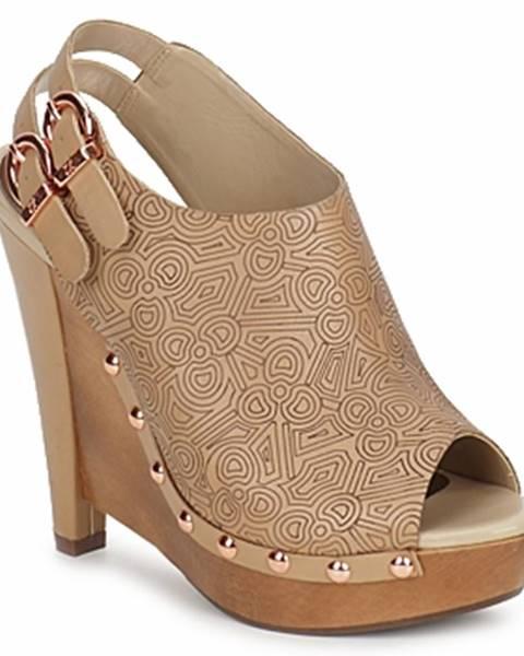 Hnedé topánky Zandra Rhodes