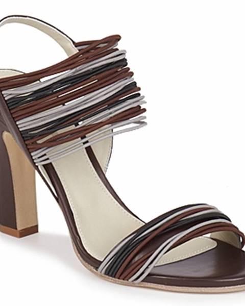 Hnedé sandále Jil Sander