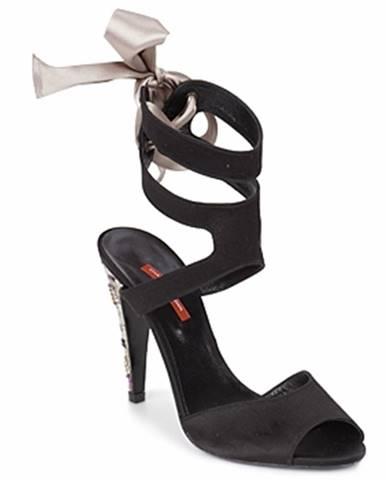 Čierne sandále Charles Jourdan