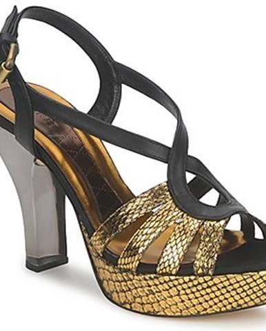 Zlaté sandále Magrit