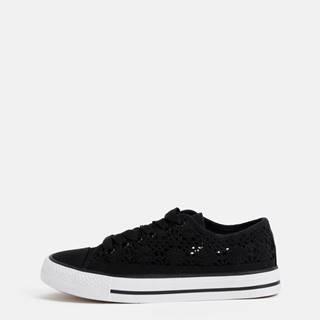 Haily´s Čierne dámske krajkové tenisky Haily´s Lacy
