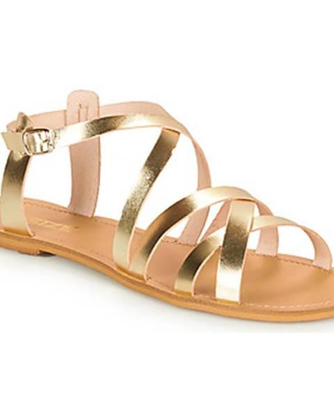 Žlté sandále So Size
