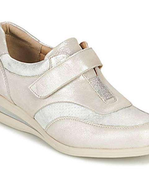 Strieborné topánky Damart