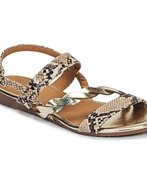 Biele sandále Moony Mood