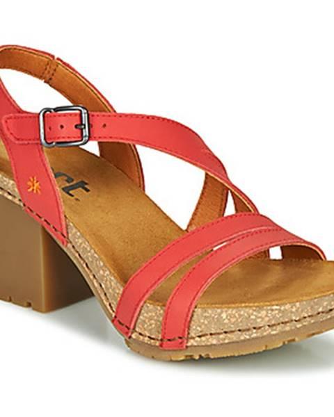 Červené sandále Art