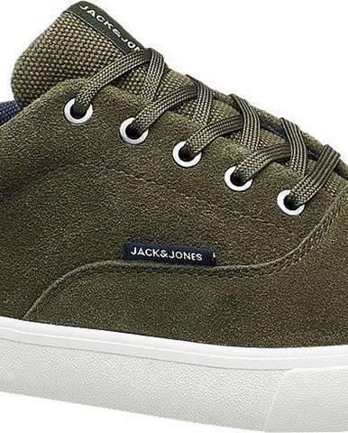 Jack & Jones - Zelené kožené tenisky Jack & Jones
