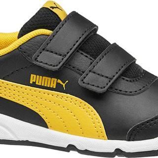 Puma - Čierne tenisky na suchý zips Stepfleex