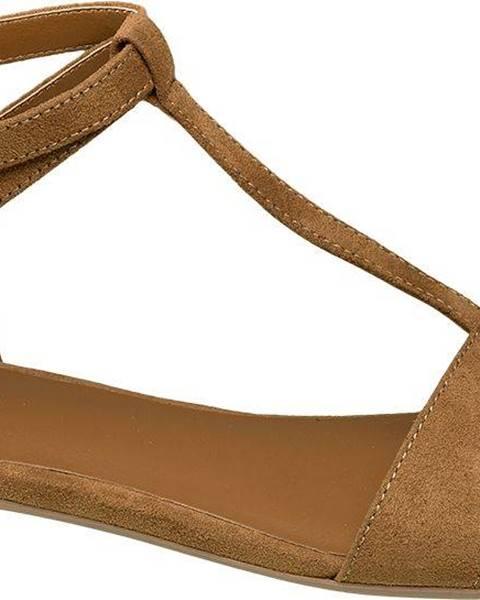 Hnedé sandále Graceland