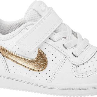NIKE - Biele tenisky na suchý zips Nike Court Borough Low