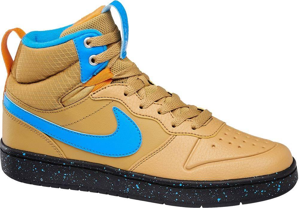 Nike NIKE - Hnedé členkové tenisky Nike Court Borough Mid