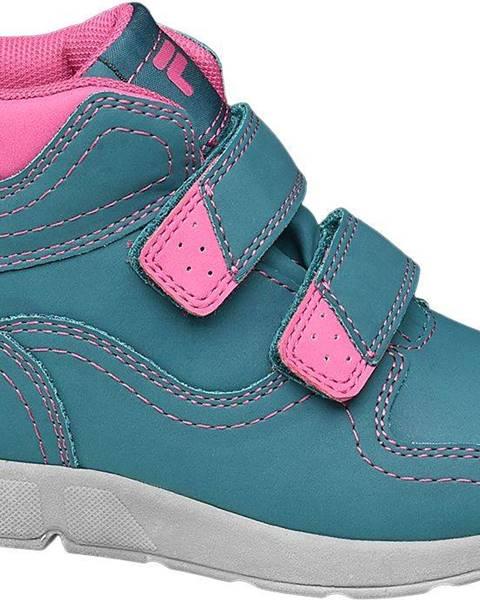 Fila  Fila - Modrá členková obuv na suchý zips Fila s TEX membránou