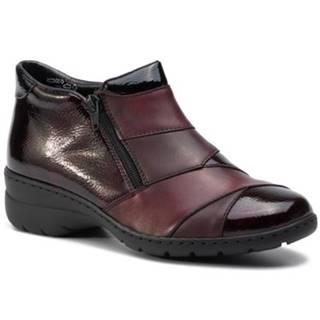 Členkové topánky Rieker L4373-35 koža(useň) lícová,koža ekologická