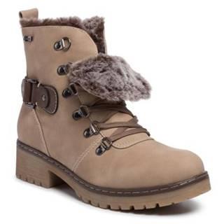 Šnurovacia obuv Clara Barson WS036-01 koža ekologická