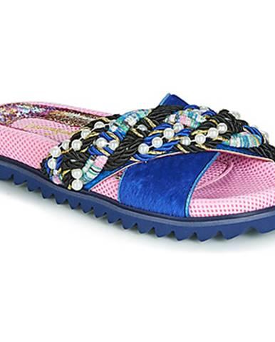 Modré papuče Irregular Choice