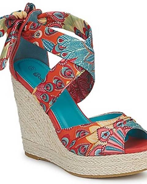 Viacfarebné sandále Moony Mood