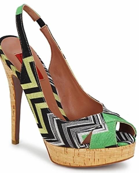 Zelené sandále Missoni