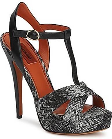 Čierne sandále Missoni