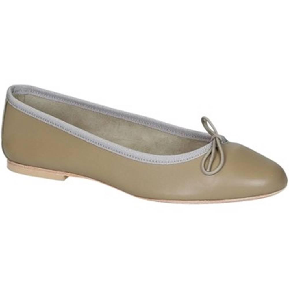 Leonardo Shoes Balerínky/Babies Leonardo Shoes  6087 CUOIO NAPPA TAUPE