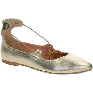 Balerínky/Babies Leonardo Shoes  117-30 CUOIO NAPPA PLATINO