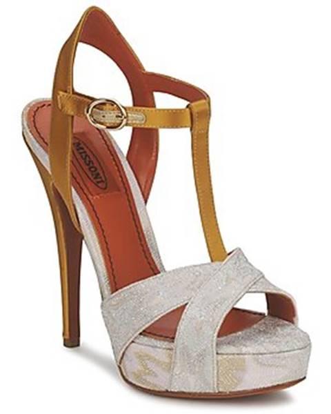 Zlaté sandále Missoni