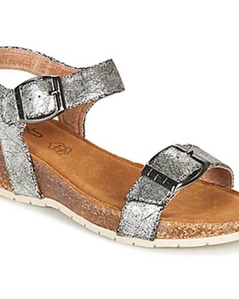Strieborné sandále Les Petites Bombes