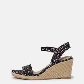 Tmavomodré vzorované sandálky Tamaris