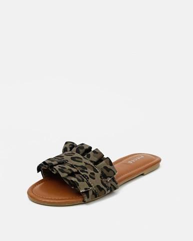 Tmavozelené papuče Pieces