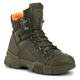 Šnurovacia obuv  WSLA07-04 Materiał tekstylny,koža ekologická