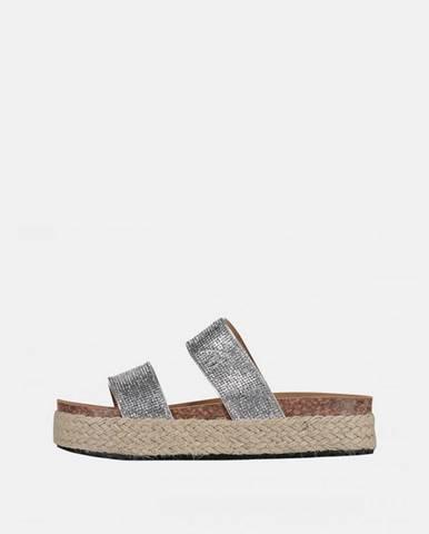 Strieborné papuče Haily´s