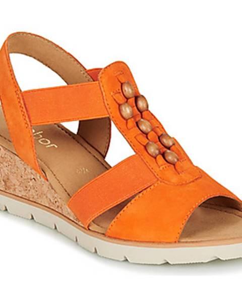 Oranžové sandále Gabor