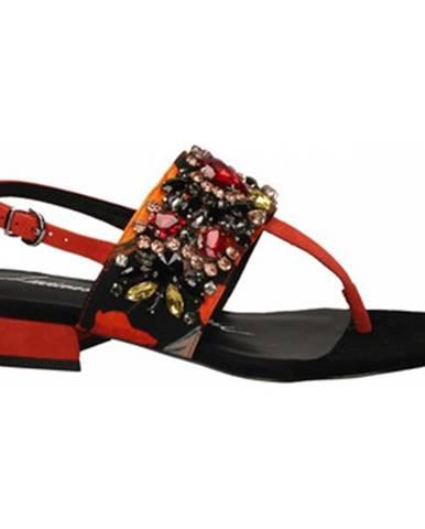 Oranžové sandále Luciano Barachini