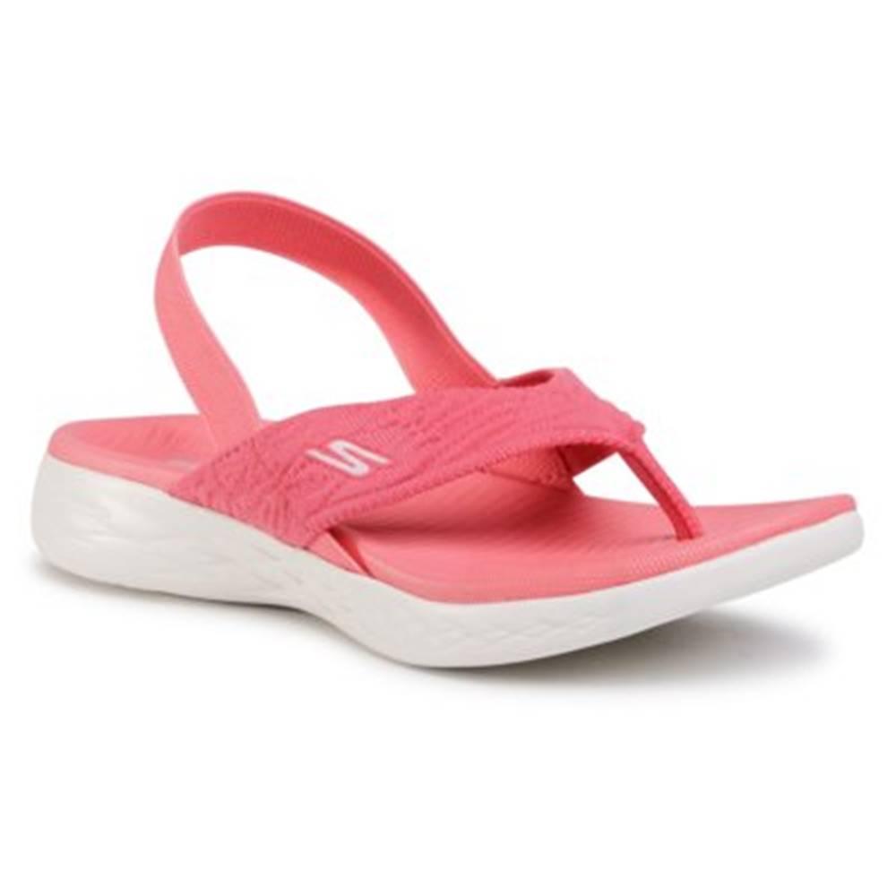 Skechers Sandále Skechers 16193 PNK Látka/-Materiál
