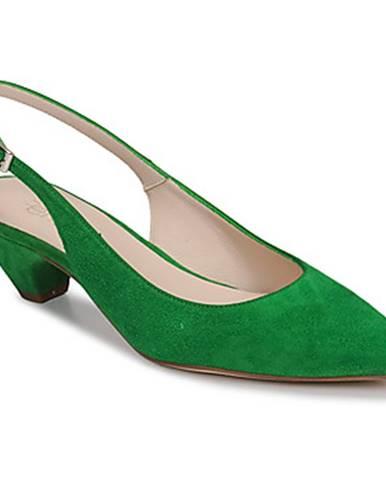 Zelené lodičky Fericelli